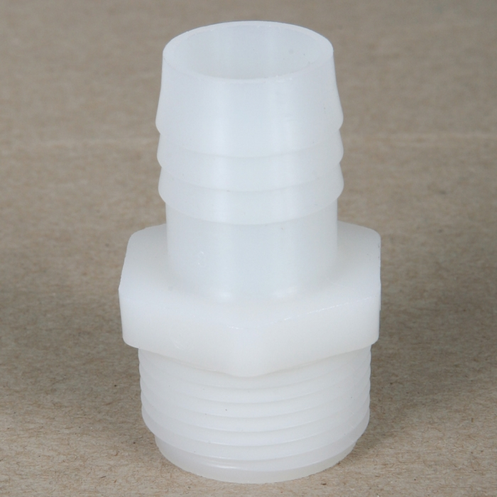 Male Thread x Hose Barb - Nylon Fitting - 3/4 inch MPT x 3/4 inch