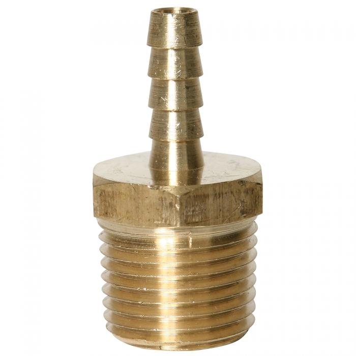 Brass Hose Barb - 1/2'' MPT x 1/4'' HB