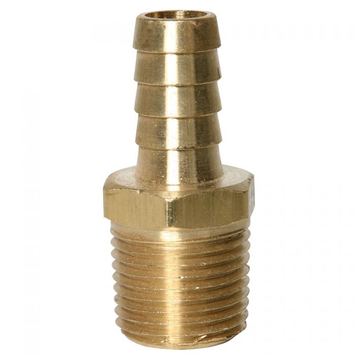 Brass Hose Barb - 1/2'' MPT x 1/2'' HB