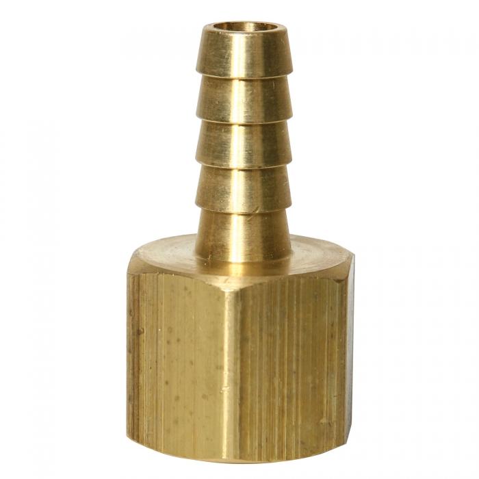 Brass Hose Barb - 1/2'' FPT x 3/8'' HB