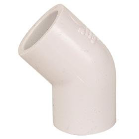 45 PVC Elbow (Slip x Slip) 1 inch