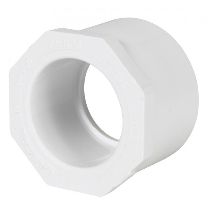 PVC Reducer Bushing (Spigot x Slip) - 2'' x 1 1/4'' - View 1