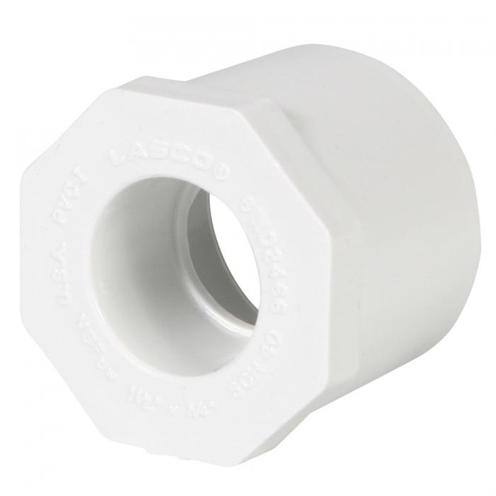 PVC Reducer Bushing (Spigot x Slip) - 1 1/2'' x 3/4'' - View 1
