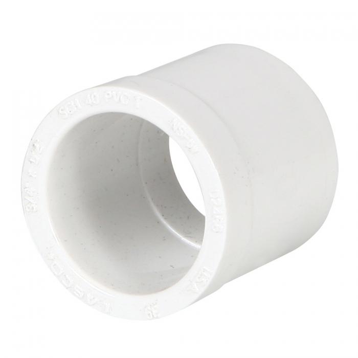 PVC Reducer Bushing (Spigot x Slip) - 3/4'' x 1/2'' - View 1