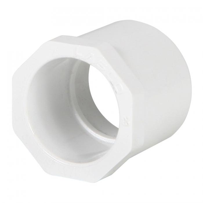 PVC Reducer Bushing (Spigot x Slip) - 1'' x 3/4'' - View 1