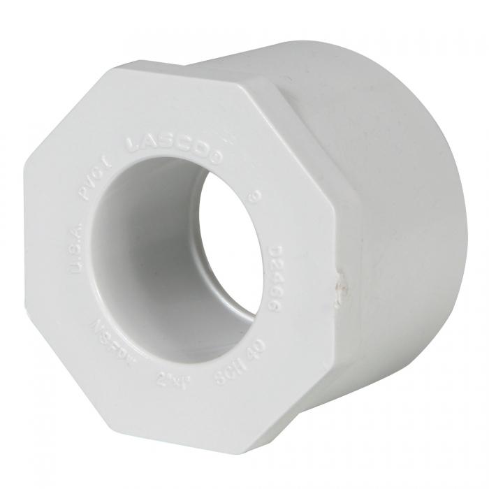 PVC Reducer Bushing (Spigot x Slip) - 2'' x 1''
