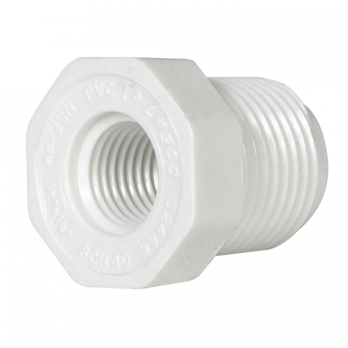 PVC Reducer Bushing  (MIP x FIP) - 1/2'' x 1/4'' - View 1
