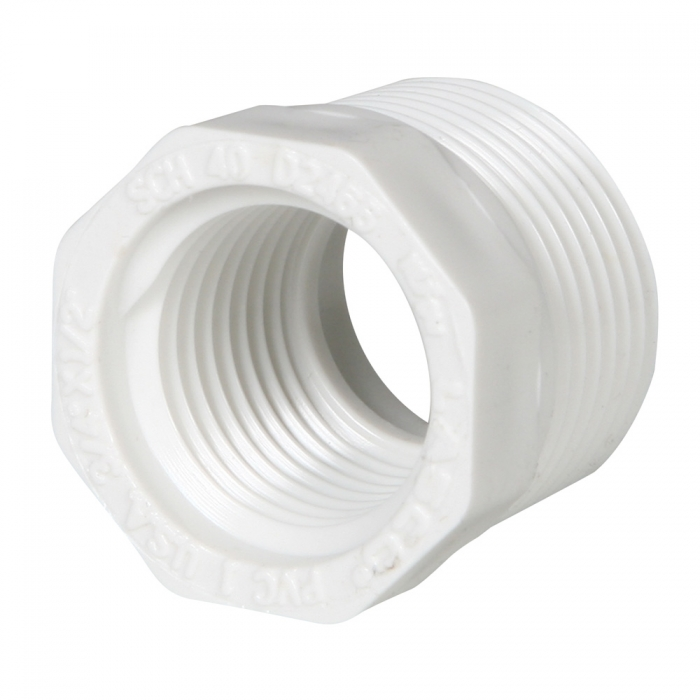 PVC Reducer Bushing  (MIP x FIP) - 3/4'' x 1/2'' - View 1