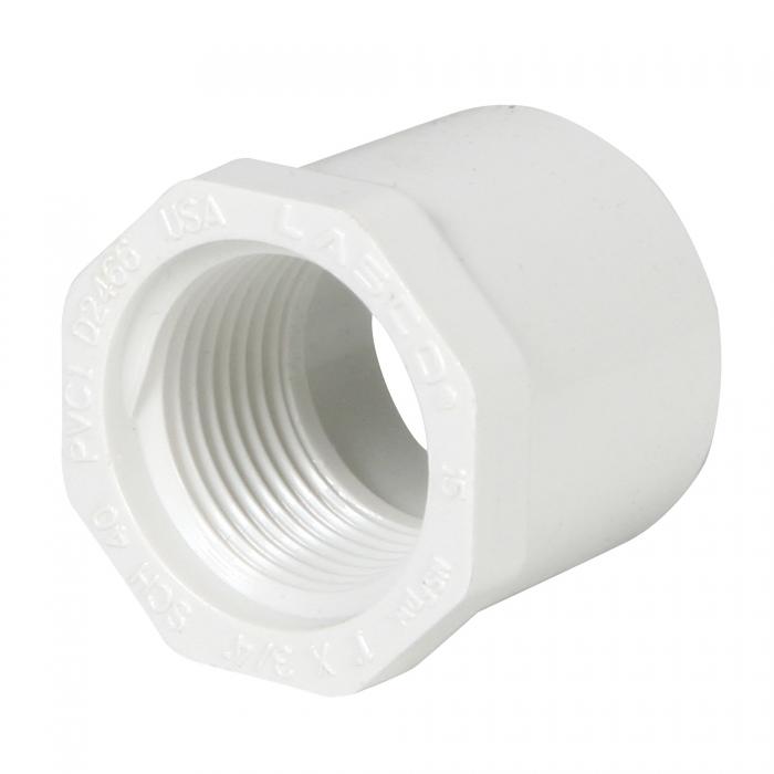 PVC Reducer Bushing (Spigot x FIP) - 1'' x 3/4''