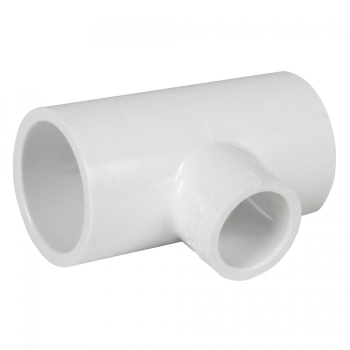 PVC Reducing Tee - 1 1/2 inch x 1 1/2 inch x 3/4 inch (Slip x Slip x Slip)