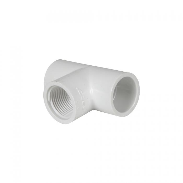 PVC Female Tee (Slip x Slip x FIP) - 3/4