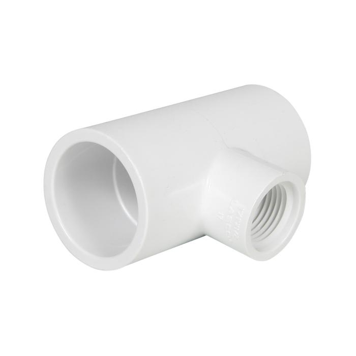 PVC Reducing Female Tee 1 in S x 1 in S x 1/2 in FIP