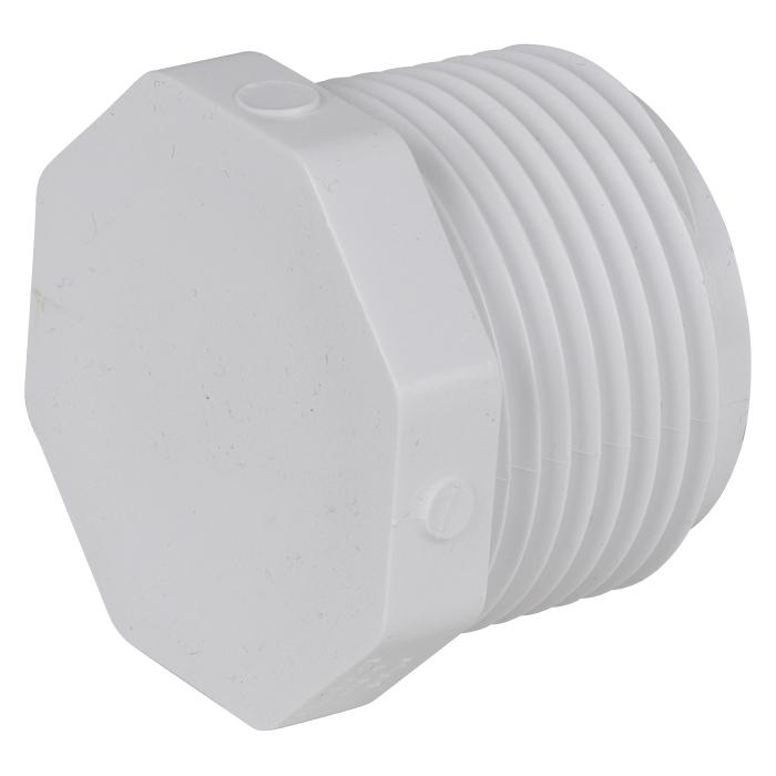 PVC Plug (MIP) - 1 inch - View 3
