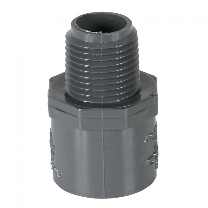Schedule 80 1/2 inch Male Adapter (MPT x Slip)