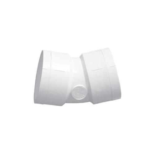 22-1/2 degree PVC Elbow - 1-1/2 inch - Slip x Slip