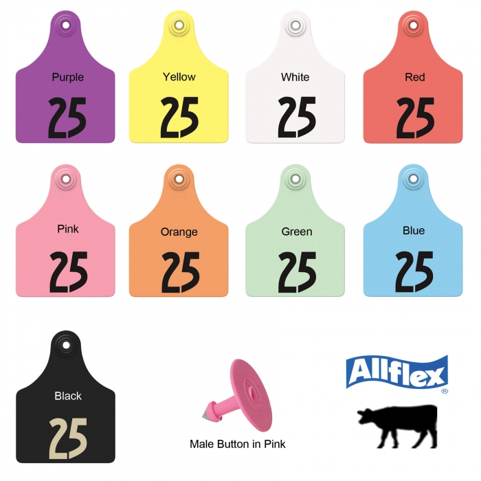 Allflex Global Maxi Beef and Dairy Ear Tag (Numbered)