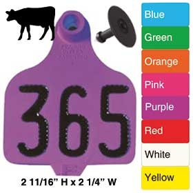 Destron Fearing Duflex Large Cattle Tag (Numbered) 25/Bag