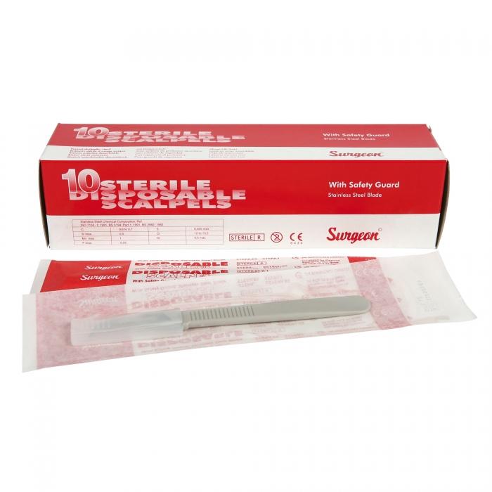 Sterile Disposable Scalpel - #12 Hook Blade Kit -10/Box