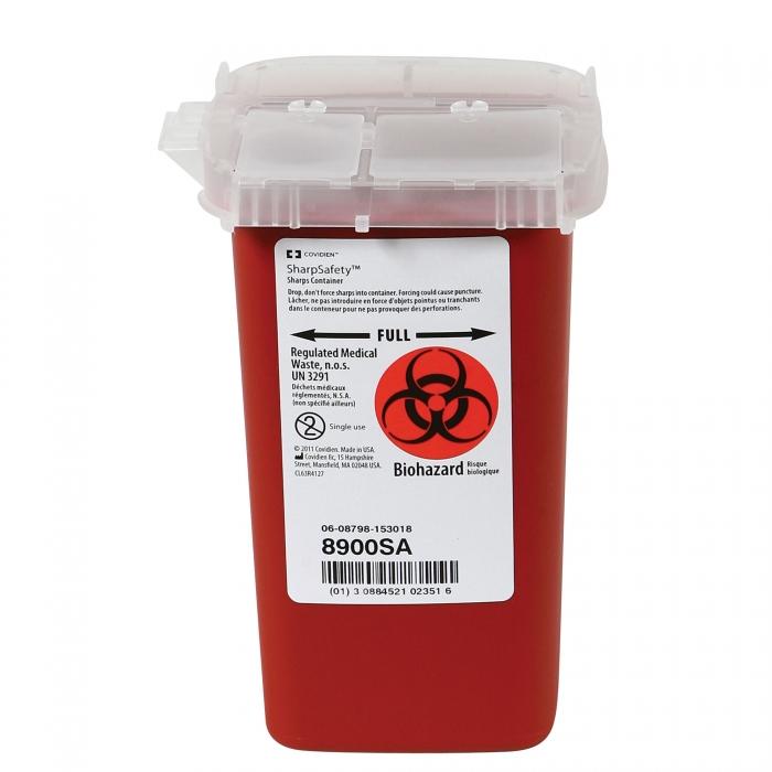 SharpSafety Biohazardous Disposable System - 32 oz. Portable w/Flip Top Lid