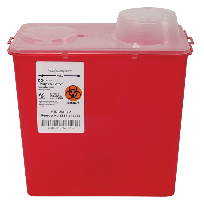 Sharps-A-Gator Biohazardous Disposable System - 8 Qt. - Rotary Top