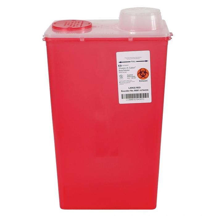 Sharps-A-Gator Biohazardous Disposable System - 14 Qt. - Rotary Top