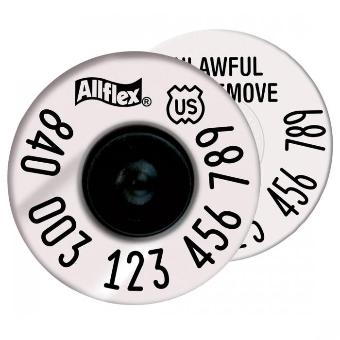 Allflex USDA HDX EID Tag - 20/Bag
