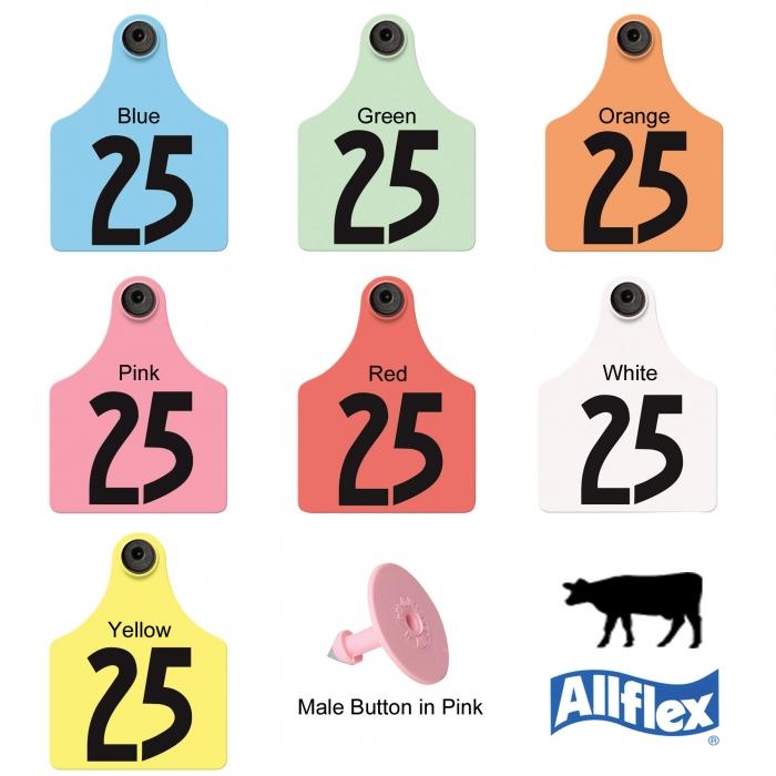 Allflex Global Maxi Tamperproof Beef and Dairy Ear Tag (Numbered) - 25/Bag