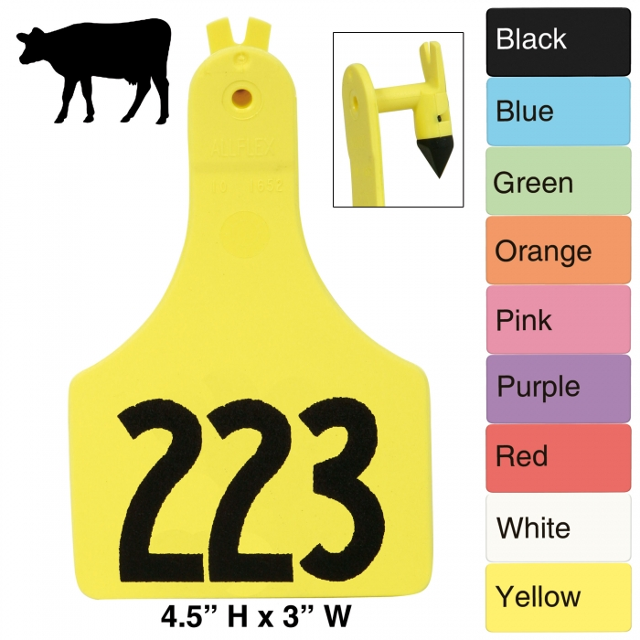 Allflex A-Tag One Piece Cow Tag Numbered 25/Bag - ATAGX#