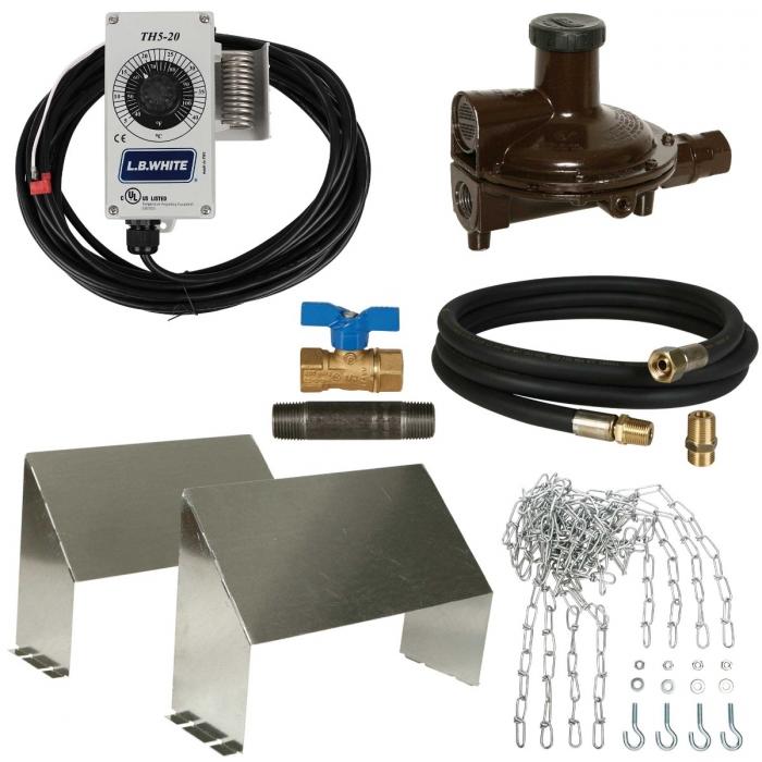 LB White Accessory Package Guardian 160-250,000 BTU Propane - Pilot Light Heater