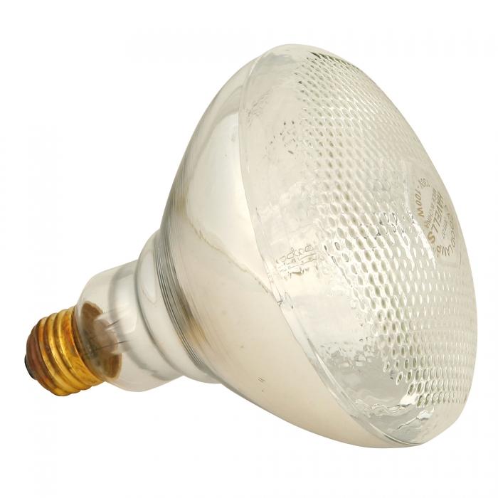 Infrared Heavy Duty Hard Glass Heat Bulbs - 100 Watt (Clear Glass)