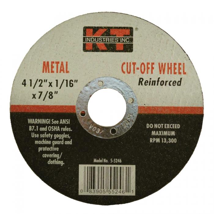 4 1/2 x 1/16 x 7/8 Cutting Wheel