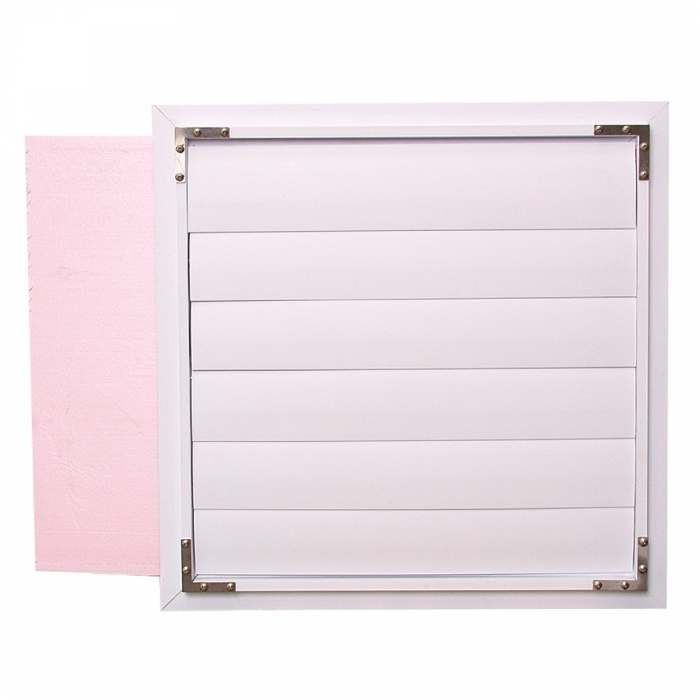 Poly II Shutter with Removable Insulation Board