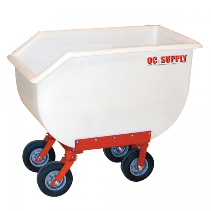 Poly Tuff Utility/Feed Cart - 14 Bushel w/ 4 Hard Rubber Tires