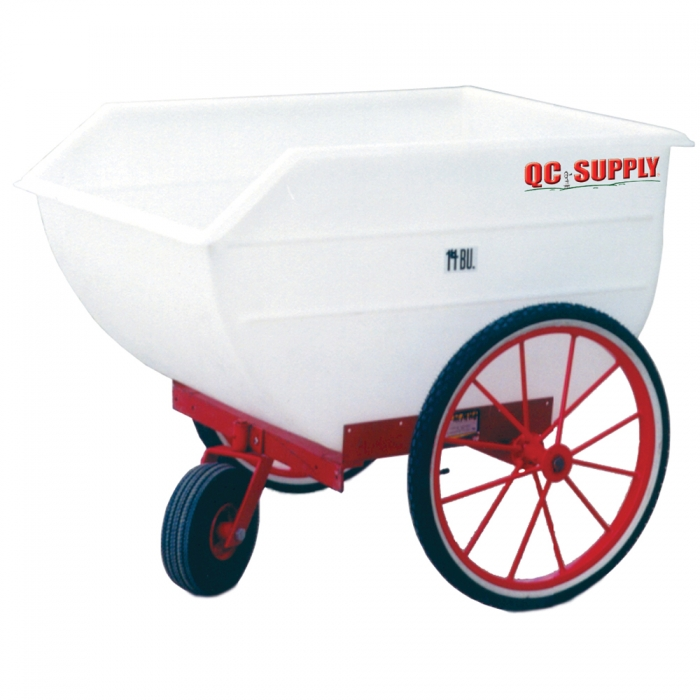 Poly Tuff Utility/Feed Cart - 14 Bushel w/ 2 Bicycle Tires and Air Swivel Tire