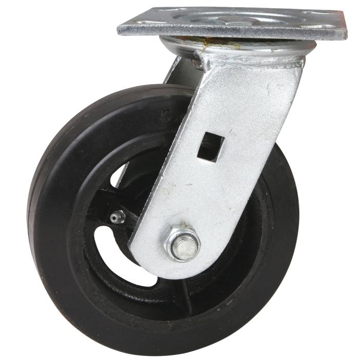 6 x 2 Rubber Wheel On Swivel