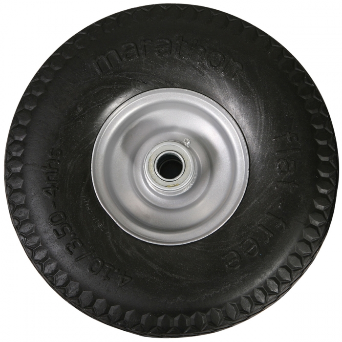 Solid Core Flat Free Tire - 4.10/3.50-6
