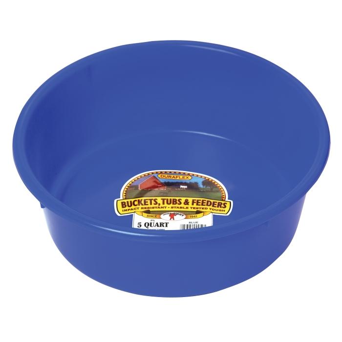 Little Giant 5 Quart Plastic Utility Pan - Blue