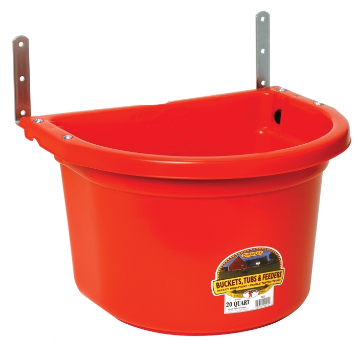 Little Giant 20 Quart Red Fence Feeder