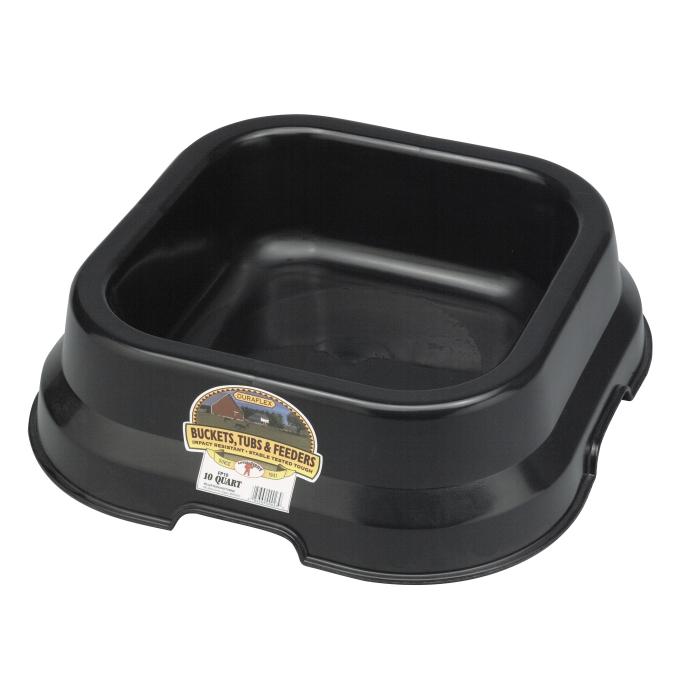 Little Giant 10 Quart Black Feed Pan