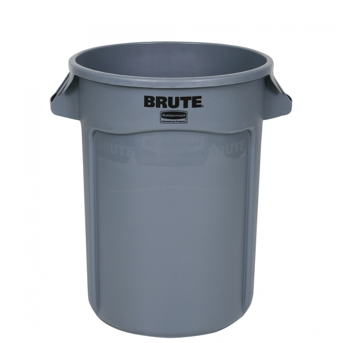 Rubbermaid BRUTE Round Container 32 Gallon - Front View