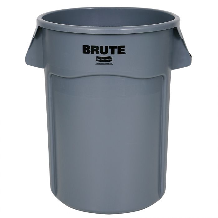 Rubbermaid BRUTE Round Container 44 Gallon - Front View