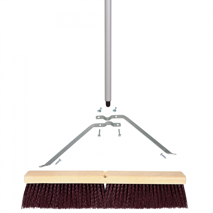 18 inch Coarse Sweep Broom with 3-Piece Handle