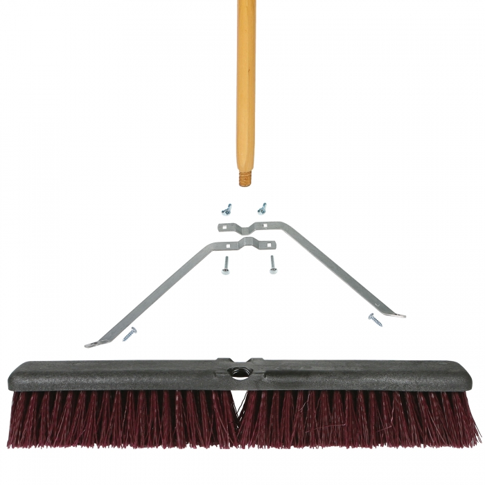 24 inch Coarse Sweep Broom with Foam Block