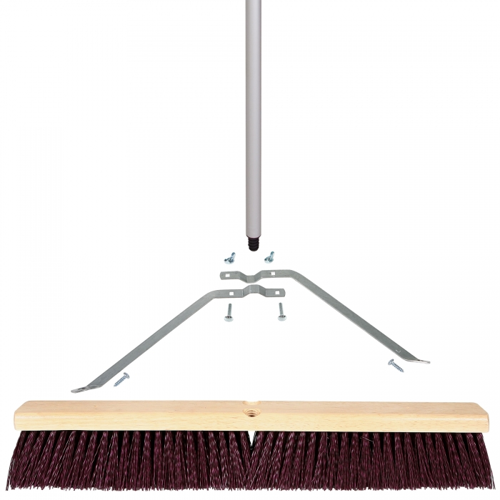 24 inch Coarse Sweep Broom with 3-Piece Handle