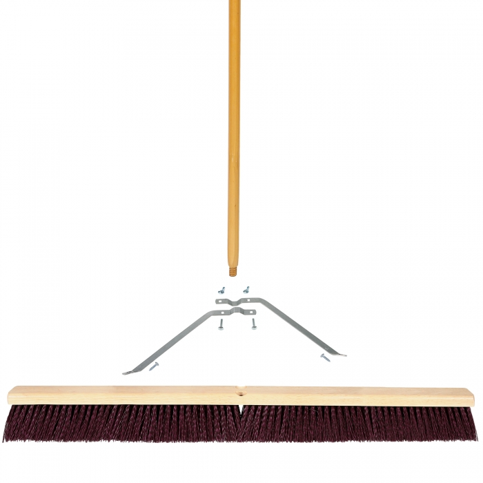 36 inch Coarse Sweep Broom with Wood Block