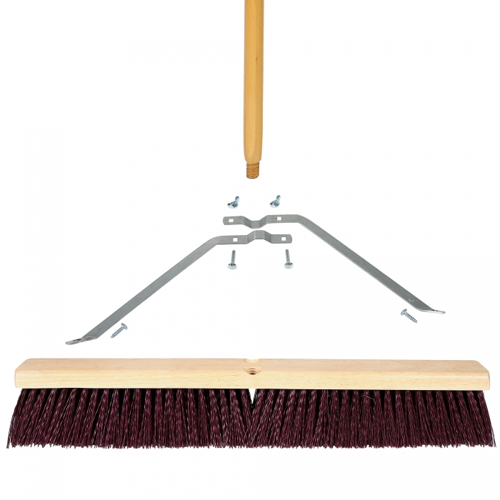 24 inch Coarse Sweep Broom - Wood Block