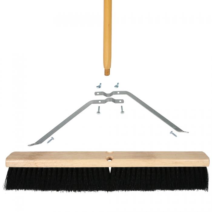 24 inch Medium Sweep Broom - Wood Block