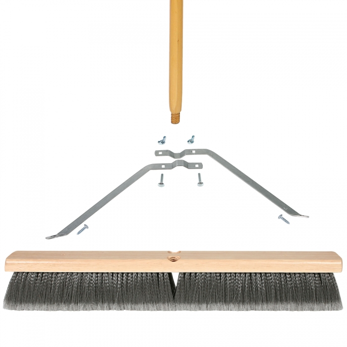 24 inch Fine Sweep Broom with Wood Block