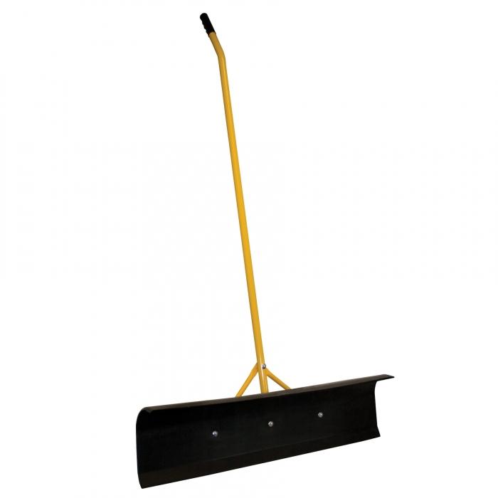 Big Push Scraper - 36 inch Black Poly Blade Curved Handle