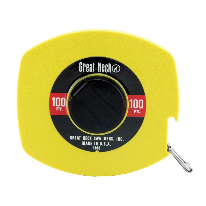 Great Neck 100' x 3/8 inch English Rule Tape
